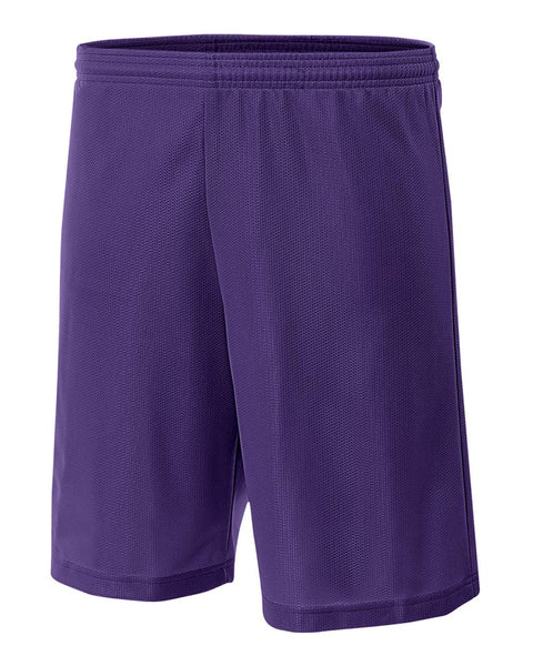 "A4 NB5184 Youth 6"" Lined Micromesh Shorts - Purple"