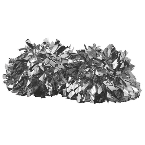 Augusta 6004 Metalic Spirit Pom - Metalic Silver - Cheerleading, Sports Accessories - Hit A Double