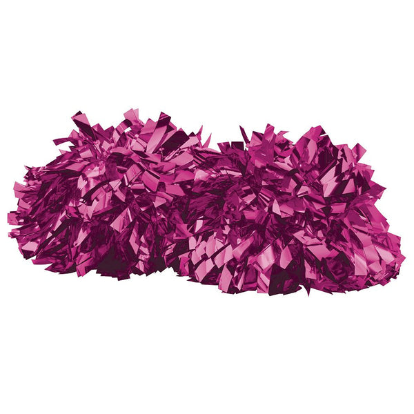 Augusta 6004 Metalic Spirit Pom - Metalic Power Pink - Cheerleading, Sports Accessories - Hit A Double