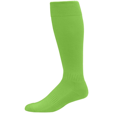 Augusta  6006 Elite Multi-Sport Knee High Sock - Lime - Baseball Apparel, Softball Apparel, Lacrosse/Field Hockey, Volleyball Accessories, Football, Soccer - Hit A Double