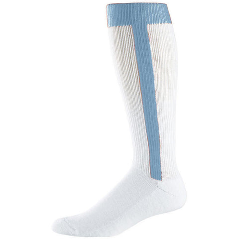 Augusta  6011 Baseball Stirrup Knee High Socks - Light Blue - Baseball Apparel, Softball Apparel - Hit A Double - 1