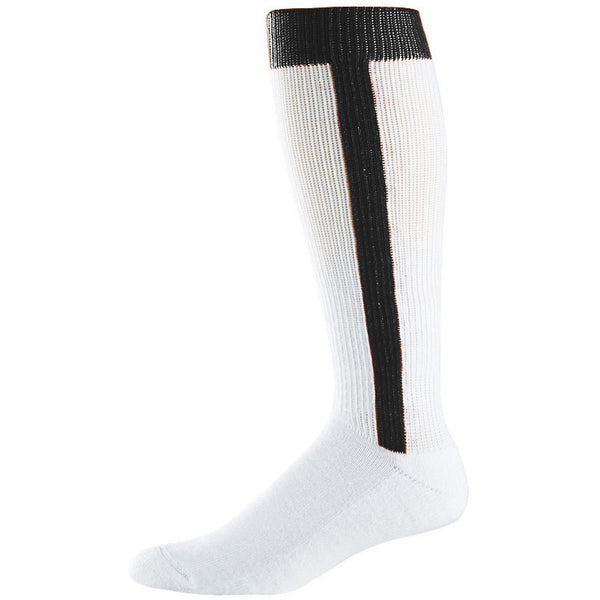 Augusta  6011 Baseball Stirrup Knee High Socks - Black - Baseball Apparel, Softball Apparel - Hit A Double - 1