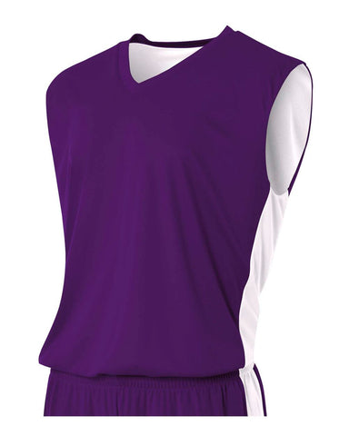 A4 N2320 Reversible Moisture Management Muscle - Purple White