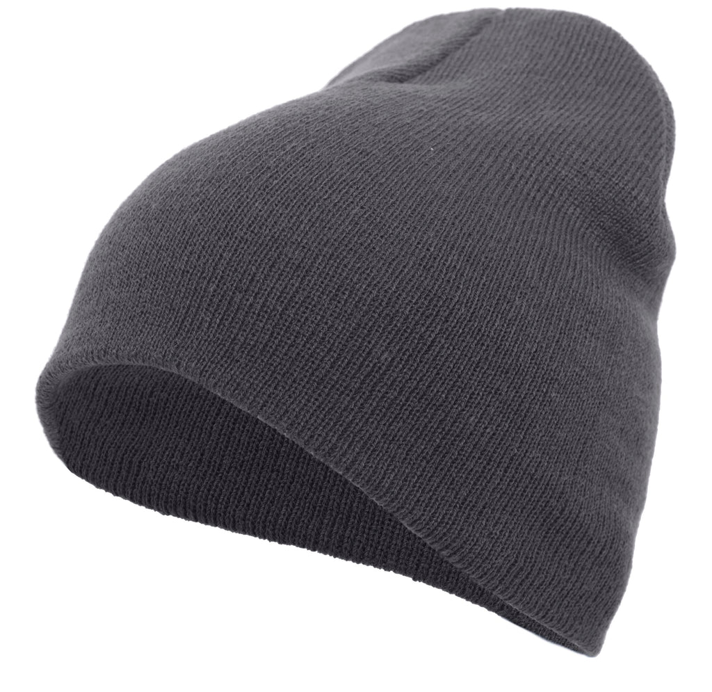 Pacific Headwear 601K Knit Beanie - Graphite - HIT A Double