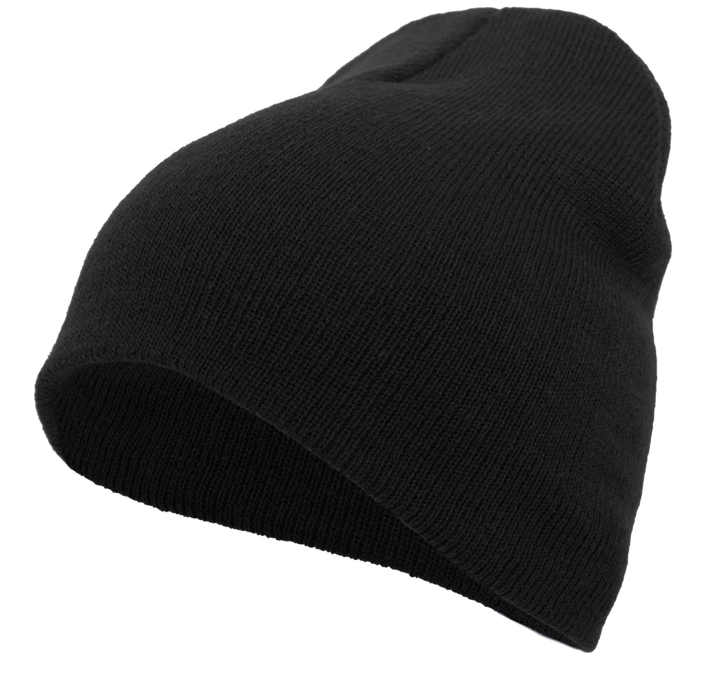 Pacific Headwear 601K Knit Beanie - Black - HIT A Double