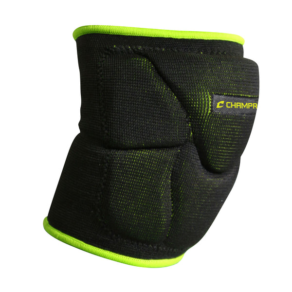 Champro A2001 Pro-Plus Low Profile Knee Pad Pair - Black Optic Yellow