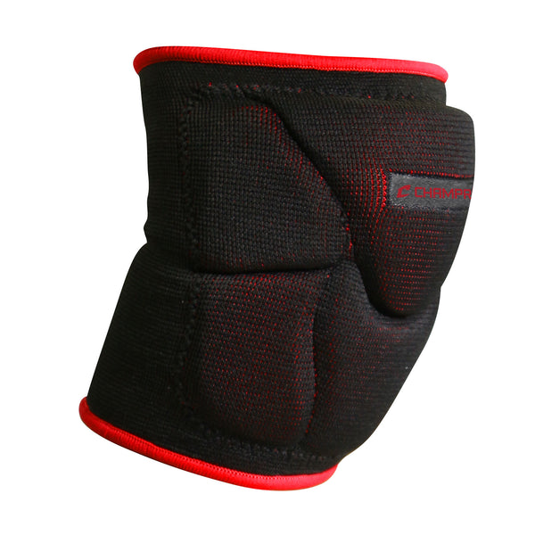 Champro A2001 Pro-Plus Low Profile Knee Pad Pair - Black Scarlet