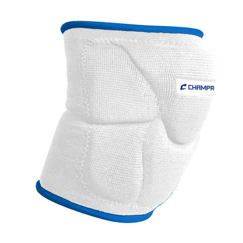 Champro A2001 Pro-Plus Low Profile Knee Pad Pair - White Royal