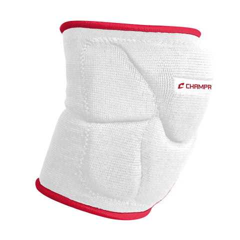 Champro A2001 Pro-Plus Low Profile Knee Pad Pair - White Scarlet