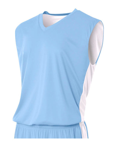 A4 N2320 Reversible Moisture Management Muscle - Light Blue White