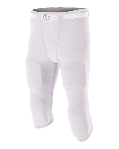 A4 N6181 Men's Flyless Football Pant - White