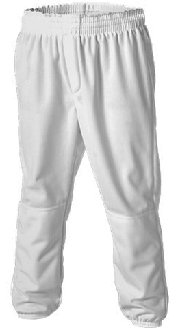 Alleson 604PDK2 Adult Pull Up Baseball Pant - White