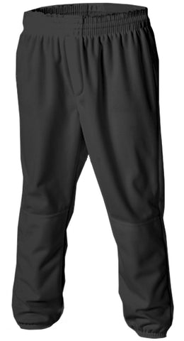 Alleson 604PDK2 Adult Pull Up Baseball Pant - Black