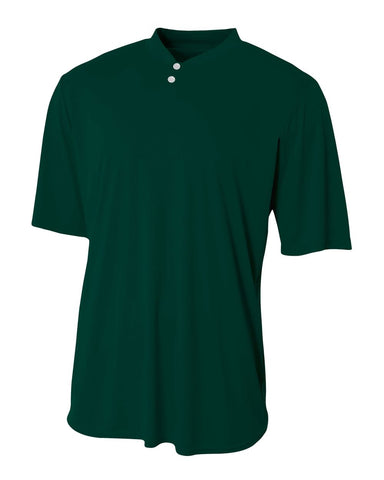 A4 N3143 Tech Performance Henley - Forest - HIT A Double