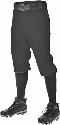 Alleson 605PKN Adult Baseball Knicker Pant - Black