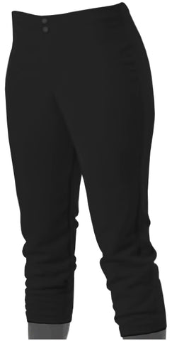 Alleson 605PLWY Girl's Kicker Fastpitch Pant - Black