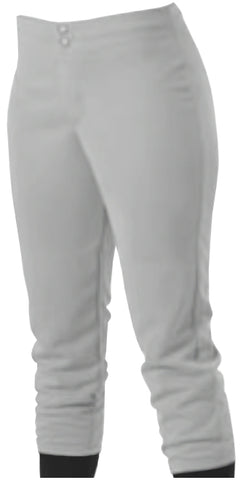 Alleson 605PLWY Girl's Kicker Fastpitch Pant - Gray