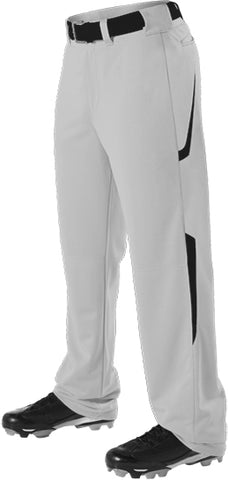 Alleson 605WL2 Adult Two Color Baseball Pant - Gray Black