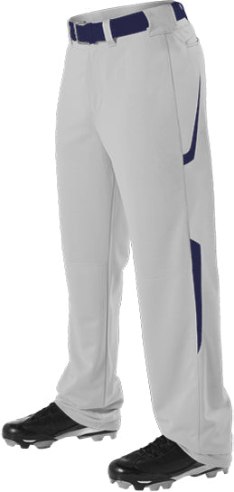 Alleson 605WL2Y Youth Two Color Baseball Pant - Gray Navy - Baseball Apparel - Hit A Double