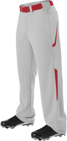 Alleson 605WL2 Adult Two Color Baseball Pant - Gray Scarlet