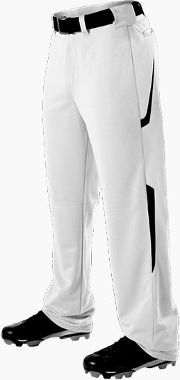 Alleson 605WL2 Adult Two Color Baseball Pant - White Black