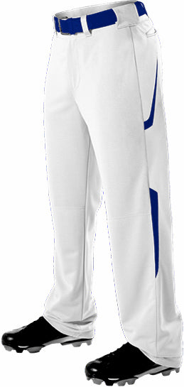 Alleson 605WL2 Adult Two Color Baseball Pant - White Royal