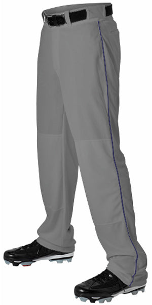 Alleson 605WLB Adult Baseball Pant with Braid - Charcoal Navy