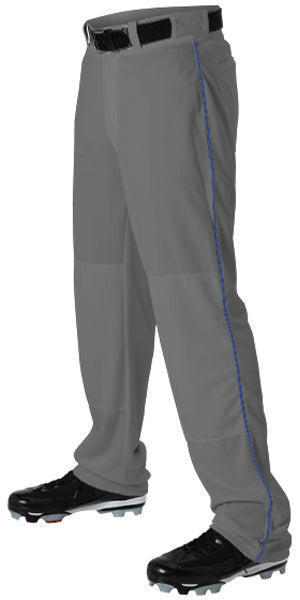 Alleson 605WLB Adult Baseball Pant with Braid - Charcoal Royal