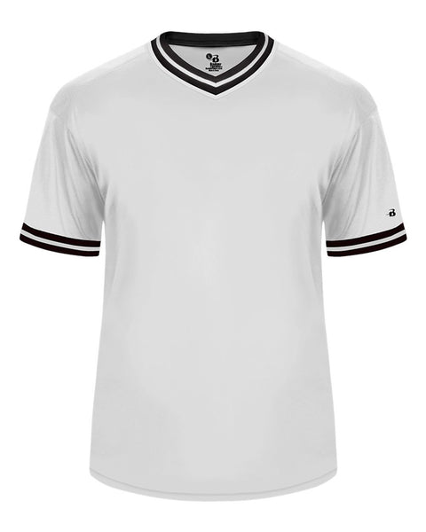 Badger 7974 Vintage Jersey - White Black White