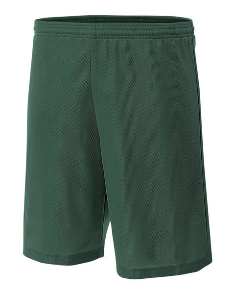 "A4 NB5184 Youth 6"" Lined Micromesh Shorts - Forest"