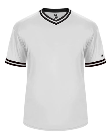 Badger 2974 Vintage Youth Jersey - White Black White