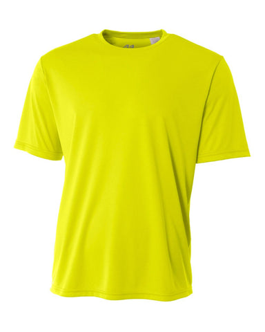 A4 N3142 Cooling Performance Crew - Safety Yellow