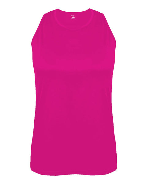 Badger 8962 B-Core Ladies Singlet - Hot Pink