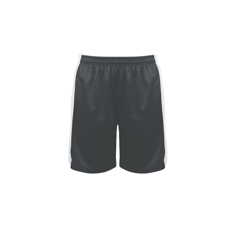 Badger 6149 Court Womens Reversible Short - Graphite White