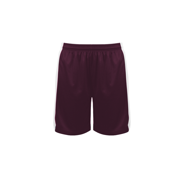Badger 6149 Court Womens Reversible Short - Maroon White