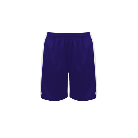 Badger 6149 Court Womens Reversible Short - Purple White