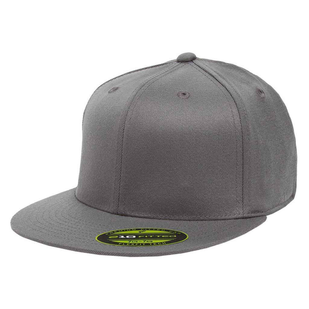 Flexfit 210 Flat Bill Cap - Gray
