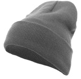 Pacific Headwear 621K Knit Cuff Beanie - Graphite - HIT A Double