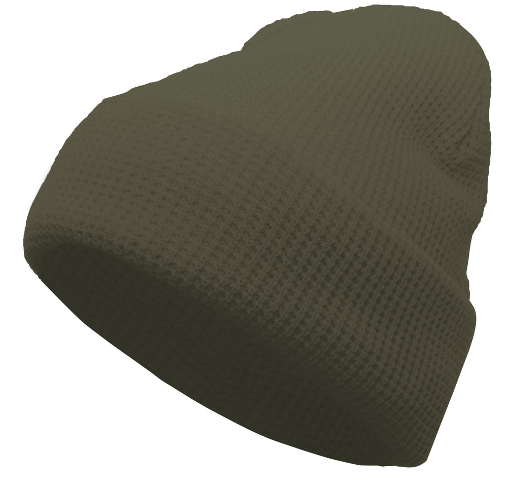 Pacific Headwear 627K Waffle Knit Cuff Beanie - Sage - HIT A Double