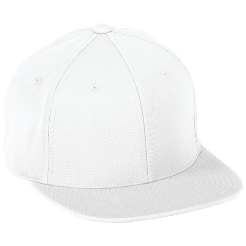 Augusta 6314 Flex Fit Flat Bill Cap - White - HIT A Double