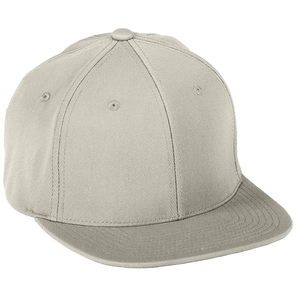Augusta 6314 Flex Fit Flat Bill Cap - Silver Grey - HIT A Double
