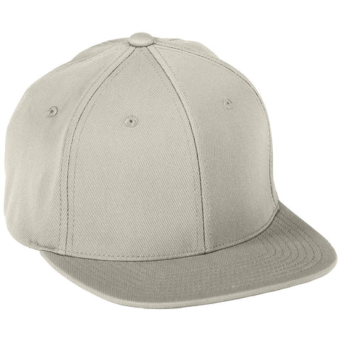 Augusta 6314 Flex Fit Flat Bill Cap - Silver Grey