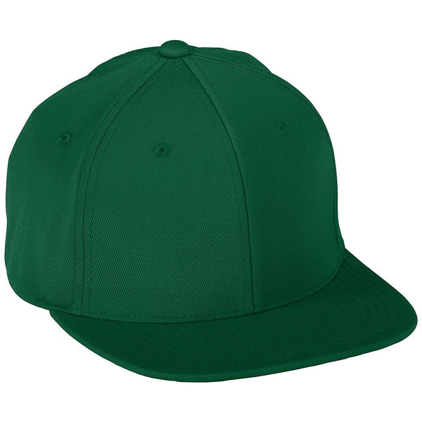 Augusta 6315 Youth Flex Fit Flat Bill Cap - Dark Green - HIT A Double