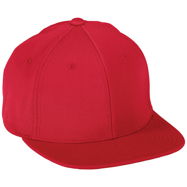 Augusta 6314 Flex Fit Flat Bill Cap - Red - HIT A Double