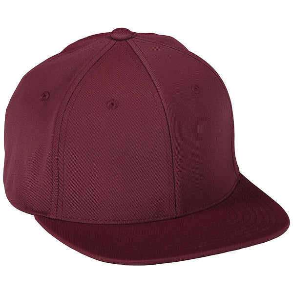 Augusta 6314 Flex Fit Flat Bill Cap - Maroon - HIT A Double
