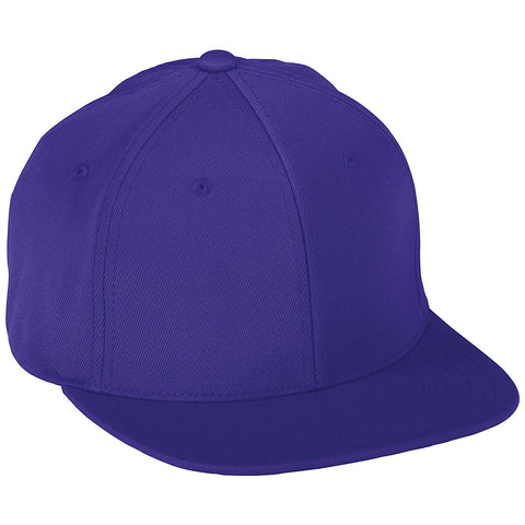 Augusta 6314 Flex Fit Flat Bill Cap - Purple - HIT A Double