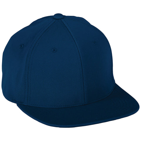 Augusta 6314 Flex Fit Flat Bill Cap - Navy - HIT A Double