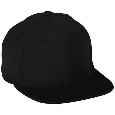 Augusta 6315 Youth Flex Fit Flat Bill Cap - Black - HIT A Double