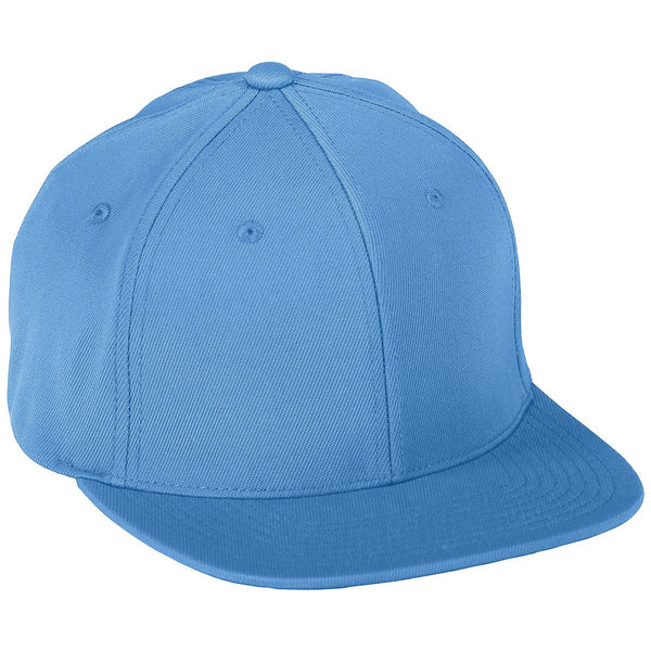 Augusta 6315 Youth Flex Fit Flat Bill Cap - Columbia Blue - HIT A Double