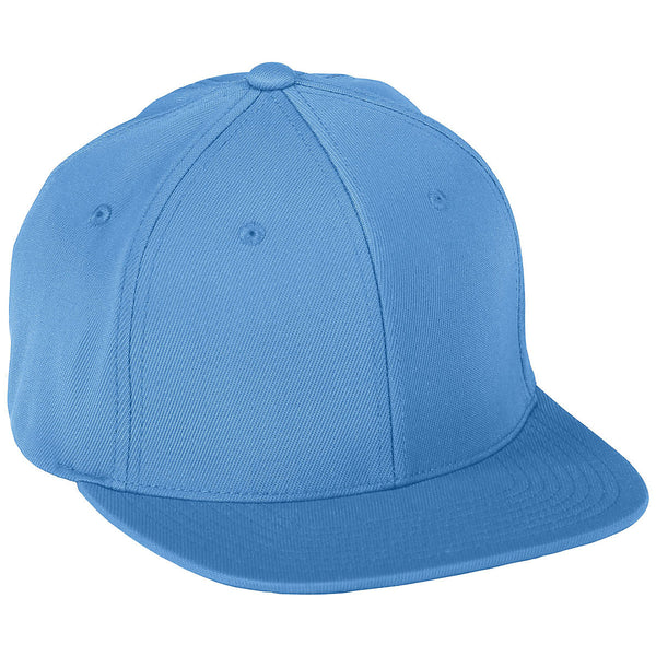 Augusta 6314 Flex Fit Flat Bill Cap - Columbia Blue - HIT A Double